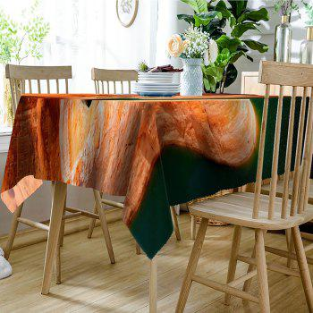 Mountain Lake Pattern Waterproof Table Cloth - BROWN RED W54 INCH * L72 INCH
