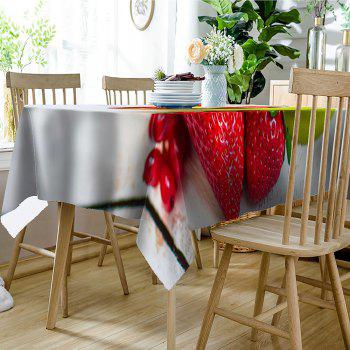 Fruit Strawberry Print Waterproof Table Cloth - COLORMIX W60 INCH * L84 INCH