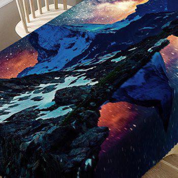 Starry Night Matterhorn Pattern Waterproof Table Cloth - COLORMIX W54 INCH * L72 INCH