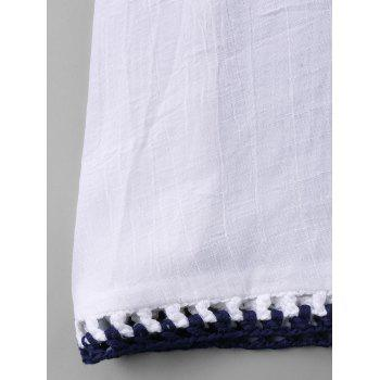 Couverture sans manches au Crochet - Blanc ONE SIZE