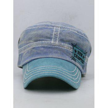 NEW CHAPTER Pattern Adjustable Military Hat - BLUE