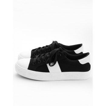 Casual Color Blocking Skate Shoes - BLACK 35