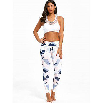 Geometric Print Training Leggings - COLORMIX XL