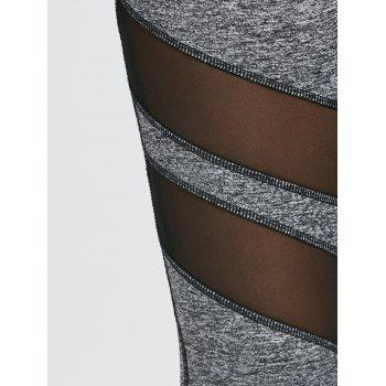 Empiècements en mesh Heather Sports Leggings - gris M