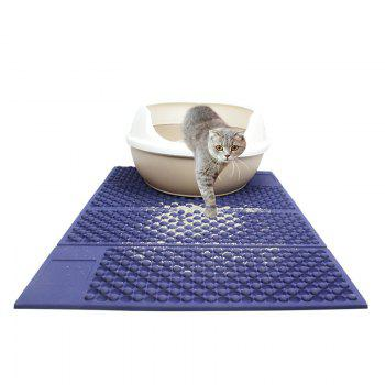 Non-Slip Foldable Indoor Outdoor Dog Mat - BLUE 72*46*0.5CM
