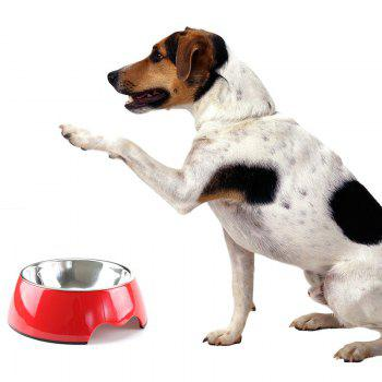 Non-toxic Melamine Double Layer Pet Food Water Bowl - RED S