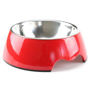 Non-toxic Melamine Double Layer Pet Food Water Bowl - RED M