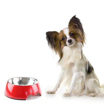 Non-toxic Melamine Double Layer Pet Food Water Bowl - RED L