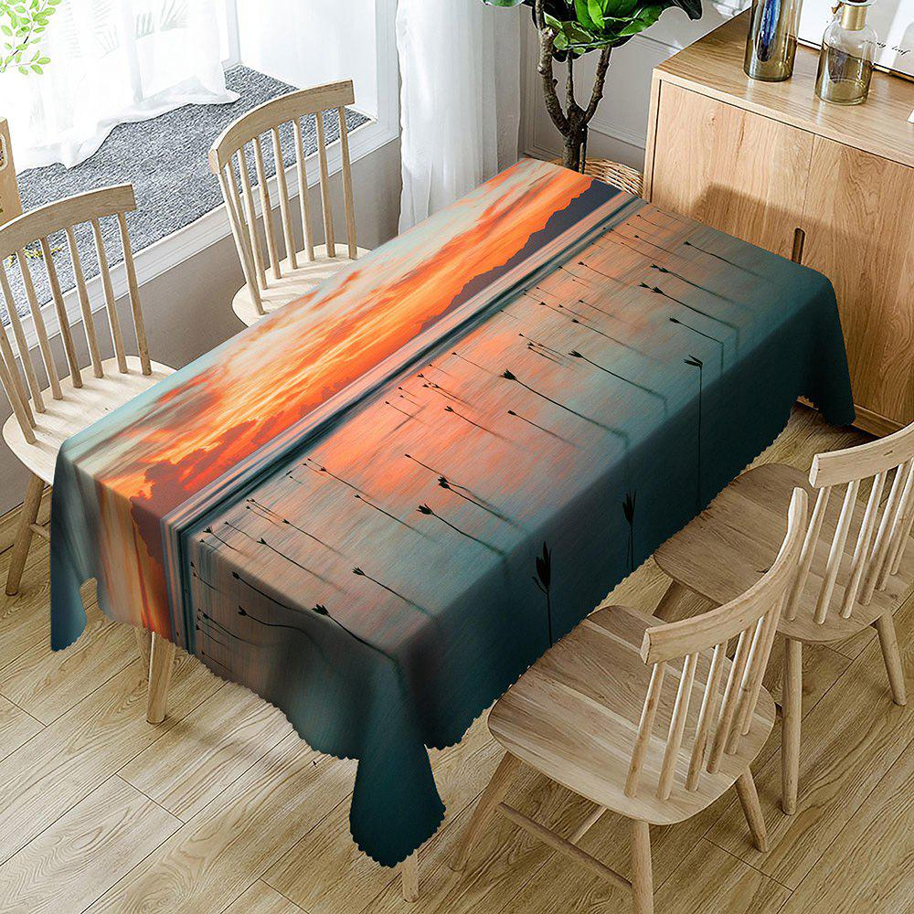 Nappe de Table Imperméable Motif Plans de Palétuviers - multicolorcolore W54 INCH * L72 INCH
