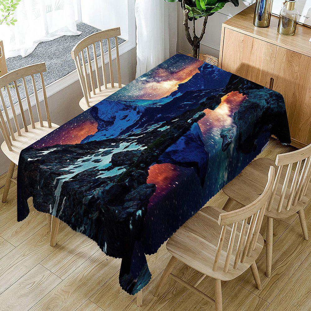 Starry Night Matterhorn Pattern Waterproof Table Cloth - COLORMIX W60 INCH * L84 INCH