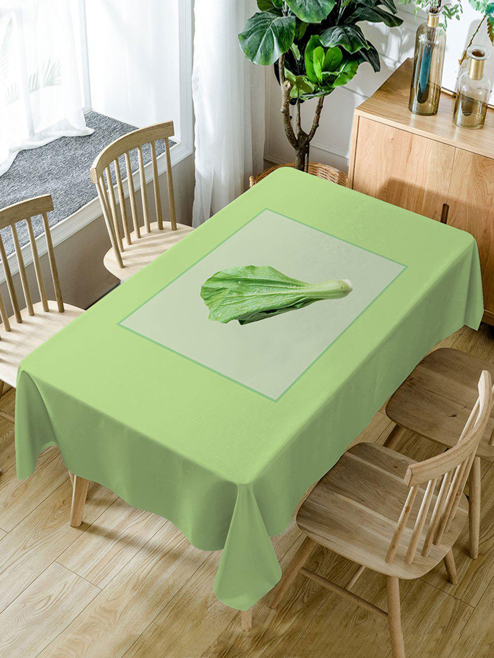 Vegetables Pattern Waterproof Table Cloth - GREEN W54 INCH * L72 INCH