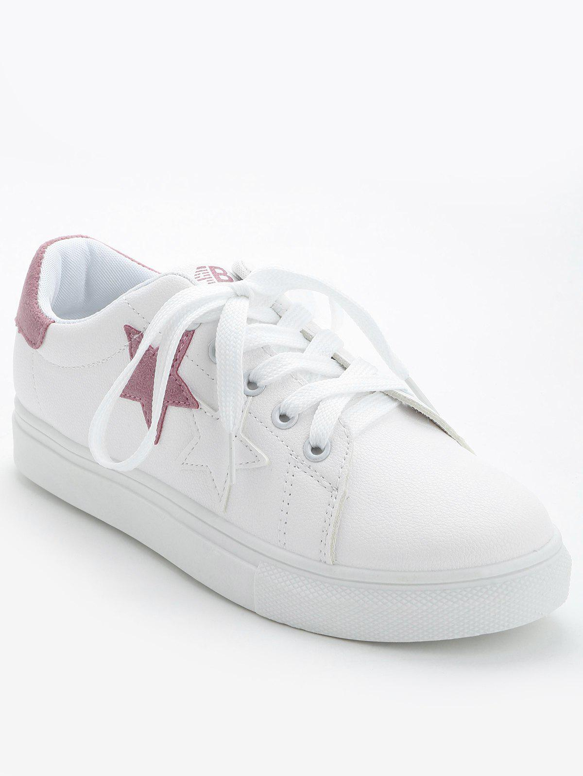 Contrasting Color Pentagram Skate Shoes - PAPAYA 39