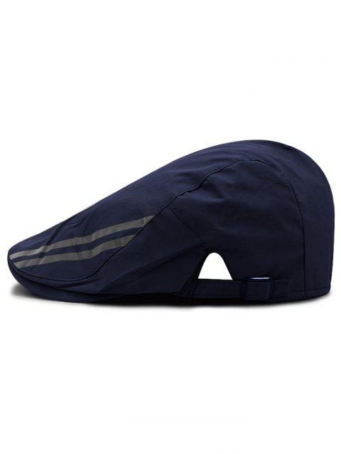 Striped Pattern Breathable Waterproof Cabbie Hat - CADETBLUE