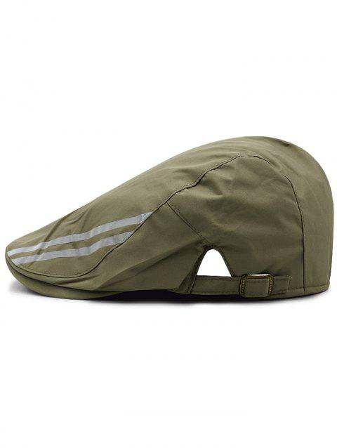 Striped Pattern Breathable Waterproof Cabbie Hat - ARMY GREEN