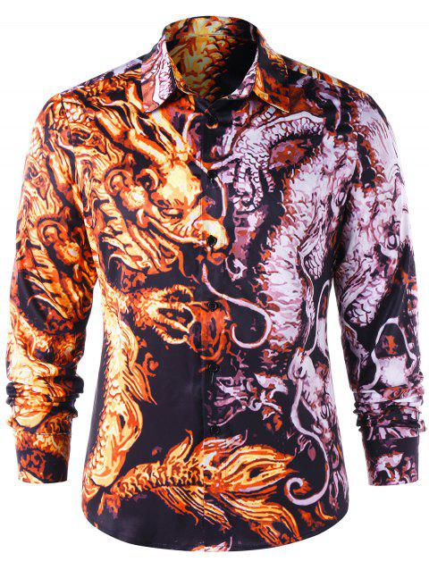 Chinese Dragon Graphic Shirt - COLORMIX L