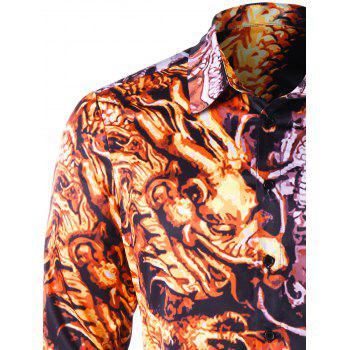 Chinese Dragon Graphic Shirt - COLORMIX 2XL