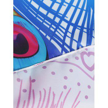 Ombre Feather Print Beach Throw - PURPLE ONE SIZE
