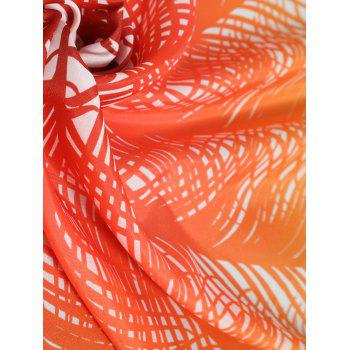 Ombre Feather Print Beach Throw - YELLOW ONE SIZE