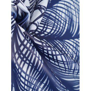 Ombre Feather Print Beach Throw - BLUE ONE SIZE