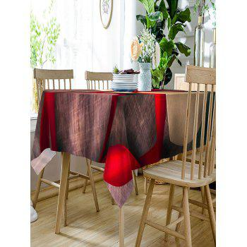 Valentine's Day Gift Ribbon Printed Waterproof Table Cloth - COLORMIX W60 INCH * L84 INCH