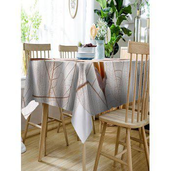 Leaves and Flowers Pattern Waterproof Table Cloth - COLORMIX W60 INCH * L84 INCH