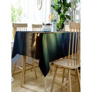 City Skyline and Bridge Print Waterproof Table Cloth - COLORMIX W54 INCH * L72 INCH