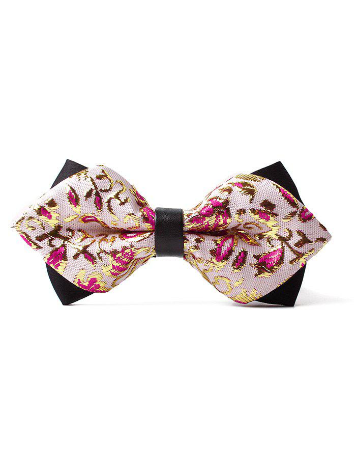 Unique Floral Pattern Shimmer Bowtie - ROSE GOLD