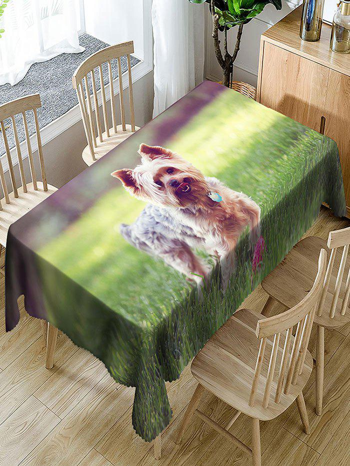 Dog Pattern Waterproof Polyester Table Cloth - GREEN W54 INCH * L72 INCH