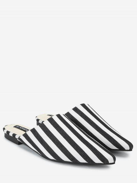 Striped Casual Mules Shoes - STRIPE 35