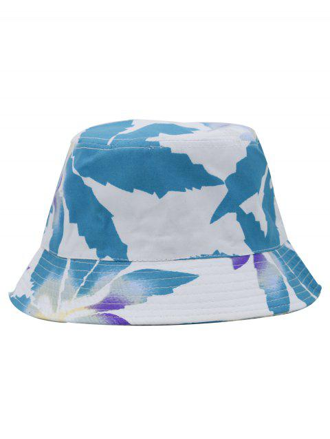 Outdoor Painting Leaves Pattern Bucket cCap - BLUE