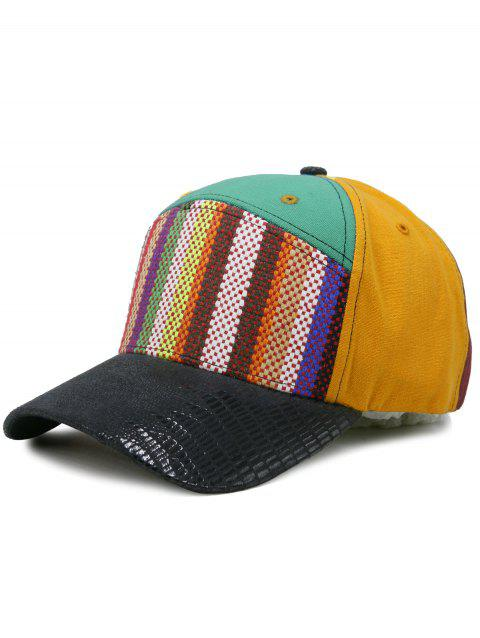 Unique Line Embroidery Colored Snapback Hat - GREEN