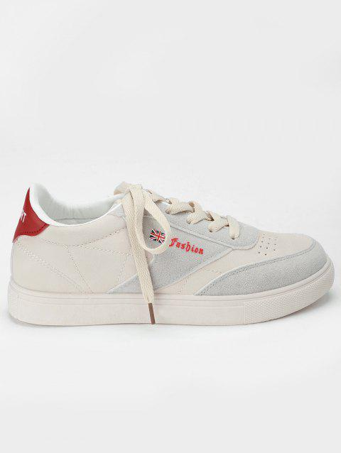 Sewing Casual Sneakers - RED 38