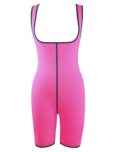 Plus Size Slimming Full Body Sauna Suit - HOT PINK 5XL