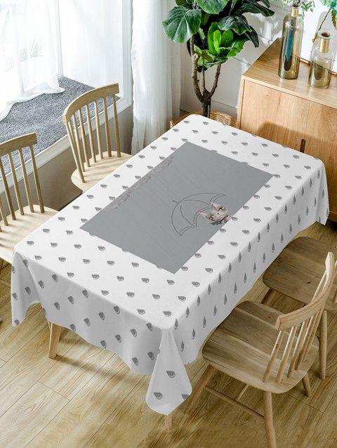 Raindrop Pattern Waterproof Table Cloth - COLORMIX W60 INCH * L84 INCH