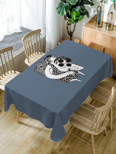 Cartoon Print Waterproof Table Cloth - GRAY W54 INCH * L54 INCH