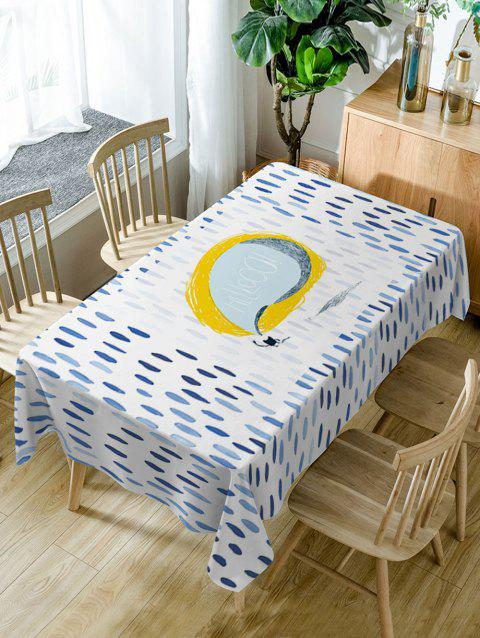 Rain Pattern Fabric Waterproof Table Cloth - COLORMIX W54 INCH * L72 INCH