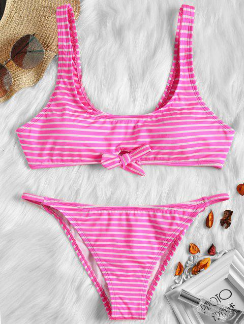 Refresh Knot-tie Bikini - ROSE RED XL