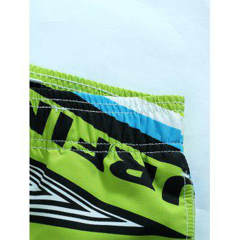 Color Splicing Sports Beach Shorts - GREEN L