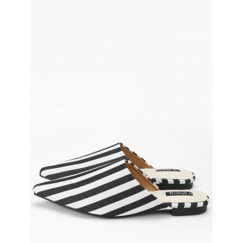 Striped Casual Mules Shoes - STRIPE 40