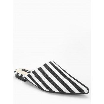 Striped Casual Mules Shoes - STRIPE 36