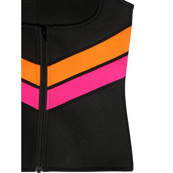 Plus Size Underbust Color Block Training Vest - BLACK XL