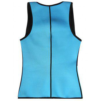 Plus Size Underbust Color Block Training Vest - BLUE GREEN XL