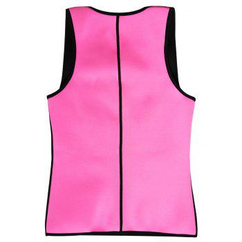 Plus Size Underbust Color Block Training Vest - PINK 3XL