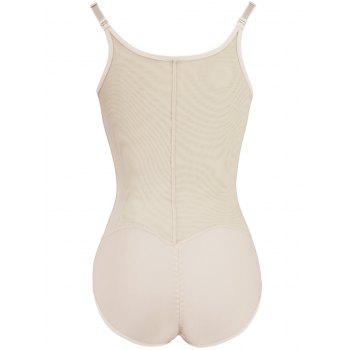 Plus Size Mesh Panel Underbust Body Corset - COMPLEXION 4XL