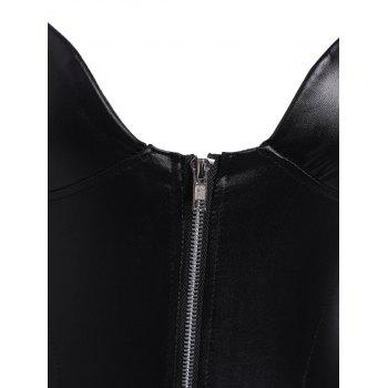 Rembourré Zip Rivet Caged Teddy - Noir L