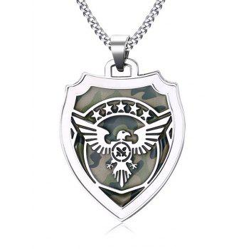 Collier de camouflage Fly Eagle Star Shield Collarbone - Argent