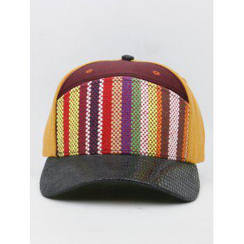 Unique Line Embroidery Colored Snapback Hat - DARK RED