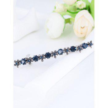 Simple Flower Artificial Gem Embellished Hairpin - BLUE