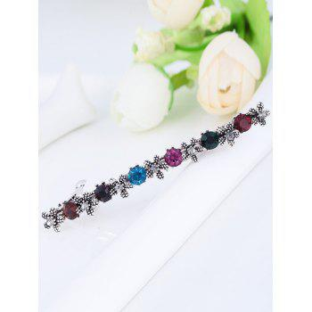 Simple Flower Artificial Gem Embellished Hairpin - COLORFUL