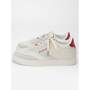 Sewing Casual Sneakers - RED 40